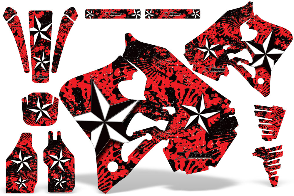 Dirt Bike Graphics Kit Decal Wrap For Honda CR125 1995-1997 CR250 1995-1996 NORTHSTAR RED-atv motorcycle utv parts accessories gear helmets jackets gloves pantsAll Terrain Depot