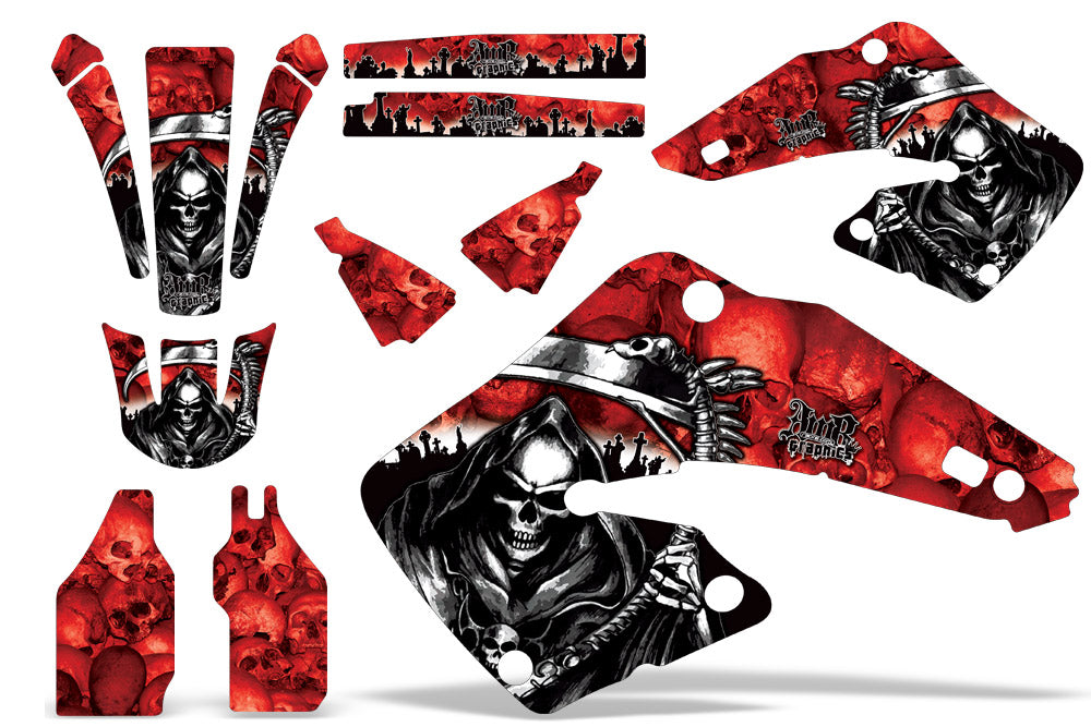 Dirt Bike Graphics Kit MX Decal Wrap For Honda CR125 CR250 2000-2001 REAPER RED-atv motorcycle utv parts accessories gear helmets jackets gloves pantsAll Terrain Depot