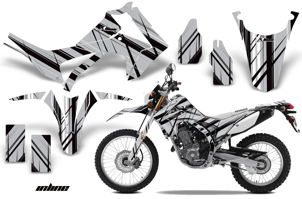 Dirt Bike Graphics Kit Decal Sticker Wrap For Honda CRF250L 2013-2016 INFINITY SILVER-atv motorcycle utv parts accessories gear helmets jackets gloves pantsAll Terrain Depot