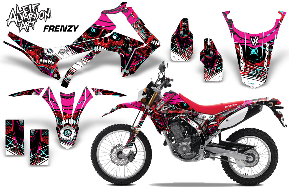 Dirt Bike Graphics Kit Decal Sticker Wrap For Honda CRF250L 2013-2016 FRENZY RED-atv motorcycle utv parts accessories gear helmets jackets gloves pantsAll Terrain Depot