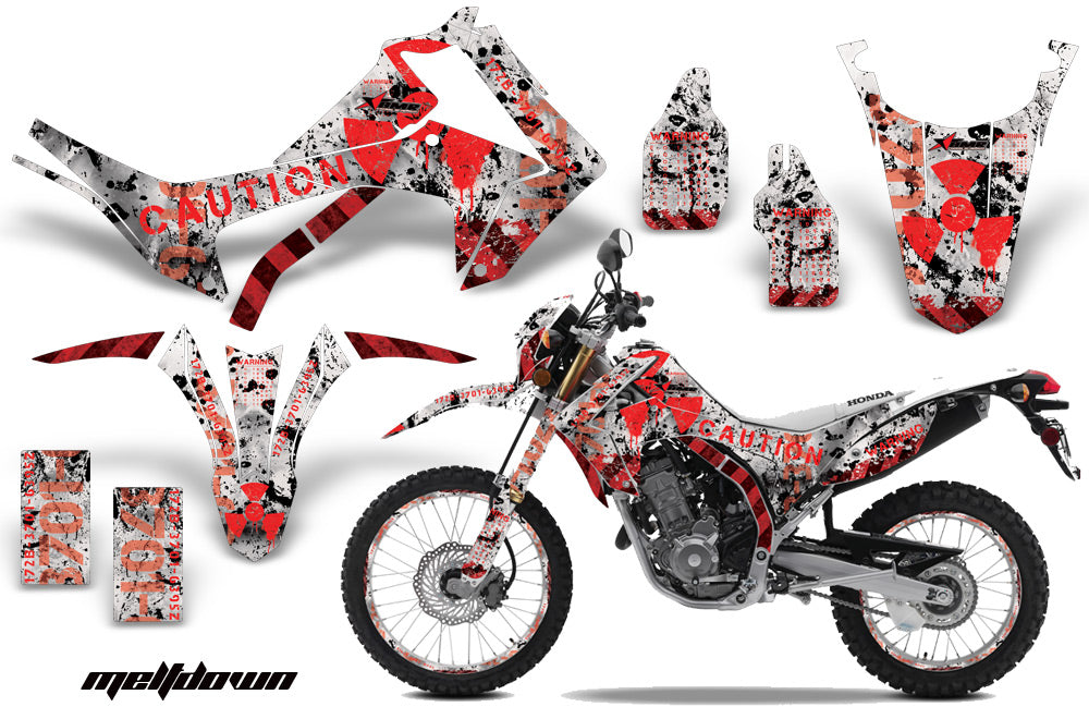 Graphics Kit Decal Sticker Wrap + # Plates For Honda CRF250L 2013-2016 MELTDOWN RED WHITE-atv motorcycle utv parts accessories gear helmets jackets gloves pantsAll Terrain Depot