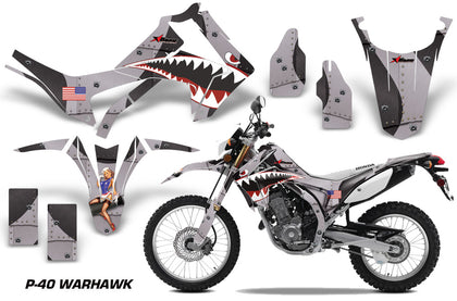 Dirt Bike Graphics Kit Decal Sticker Wrap For Honda CRF250L 2013-2016 WARHAWK BLACK