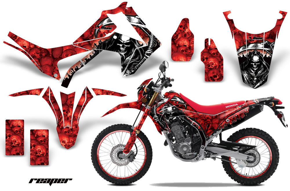 Graphics Kit Decal Sticker Wrap + # Plates For Honda CRF250L 2013-2016 REAPER RED-atv motorcycle utv parts accessories gear helmets jackets gloves pantsAll Terrain Depot