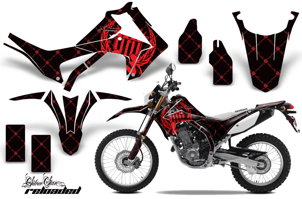 Dirt Bike Graphics Kit Decal Sticker Wrap For Honda CRF250L 2013-2016 RELOADED RED BLACK-atv motorcycle utv parts accessories gear helmets jackets gloves pantsAll Terrain Depot