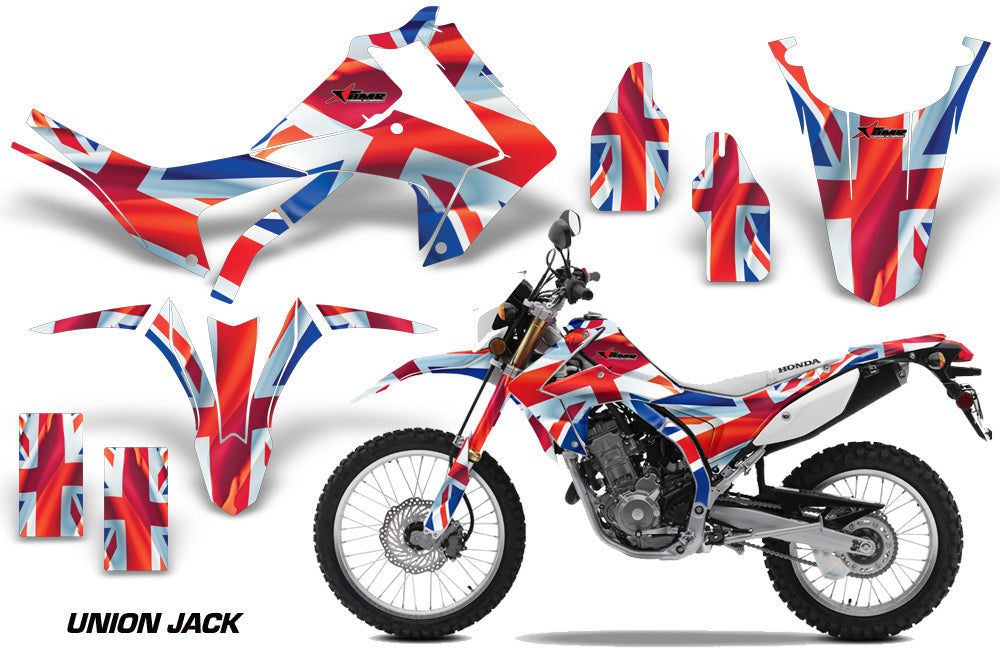 Dirt Bike Graphics Kit Decal Sticker Wrap For Honda CRF250L 2013-2016 UNION JACK-atv motorcycle utv parts accessories gear helmets jackets gloves pantsAll Terrain Depot