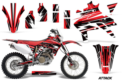Dirt Bike Decal Graphics Kit Sticker Wrap For Honda CRF450X 2005-2016  ATTACK RED