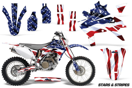 Dirt Bike Decal Graphics Kit Sticker Wrap For Honda CRF450X 2005-2016 USA FLAG