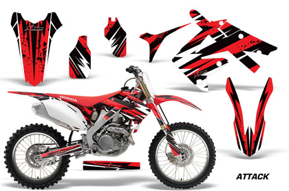 Dirt Bike Graphics Kit Decal Sticker Wrap For Honda CRF250R 2010-2013 ATTACK RED