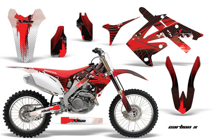 Dirt Bike Graphics Kit Decal Sticker Wrap For Honda CRF250R 2010-2013 CARBONX RED