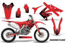Load image into Gallery viewer, Dirt Bike Graphics Kit Decal Sticker Wrap For Honda CRF250R 2010-2013 DIAMOND FLAMES BLACK RED-atv motorcycle utv parts accessories gear helmets jackets gloves pantsAll Terrain Depot