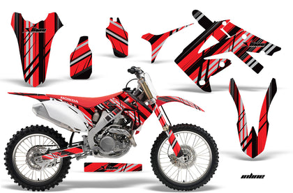 Dirt Bike Graphics Kit Decal Sticker Wrap For Honda CRF250R 2010-2013 INLINE RED
