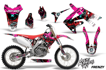 Dirt Bike Graphics Kit Decal Sticker Wrap For Honda CRF250R 2010-2013 FRENZY RED