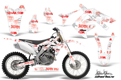 Dirt Bike Graphics Kit Decal Sticker Wrap For Honda CRF250R 2010-2013 SSSH RED WHITE