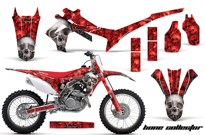 Dirt Bike Graphics Kit Decal Sticker Wrap For Honda CRF250R 2014-2017 BONES RED