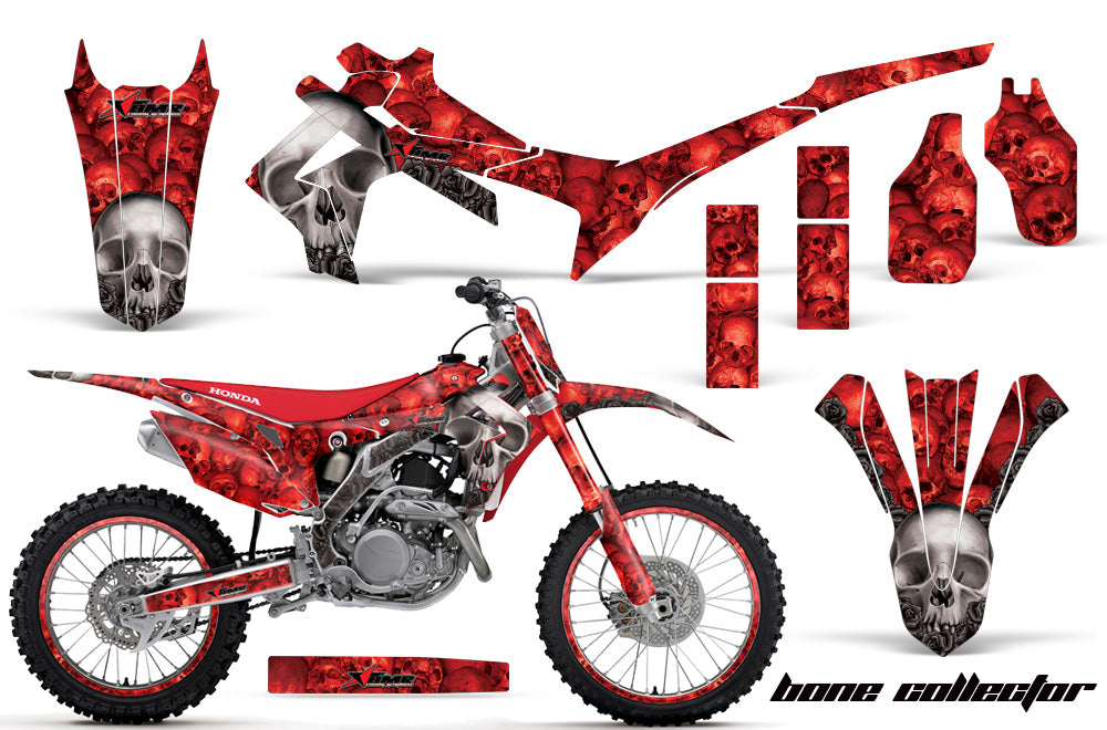 Graphics Kit Decal Sticker Wrap + # Plates For Honda CRF250R 2014-2017 BONES RED-atv motorcycle utv parts accessories gear helmets jackets gloves pantsAll Terrain Depot