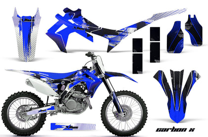 Dirt Bike Graphics Kit Decal Sticker Wrap For Honda CRF250R 2014-2017 CARBONX BLUE