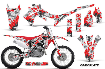 Dirt Bike Graphics Kit Decal Sticker Wrap For Honda CRF250R 2014-2017 CAMOPLATE RED