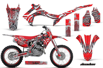 Graphics Kit Decal Sticker Wrap + # Plates For Honda CRF250R 2014-2017 DEADEN RED