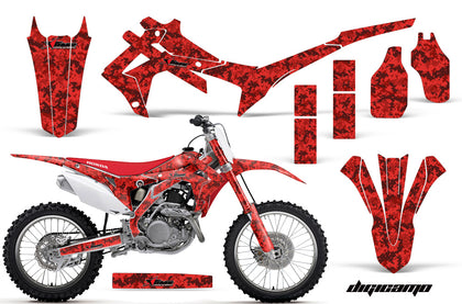 Dirt Bike Graphics Kit Decal Sticker Wrap For Honda CRF250R 2014-2017 DIGICAMO RED