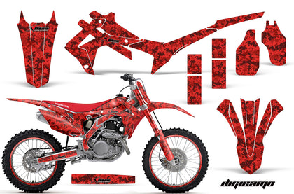 Graphics Kit Decal Sticker Wrap + # Plates For Honda CRF250R 2014-2017 DIGICAMO RED