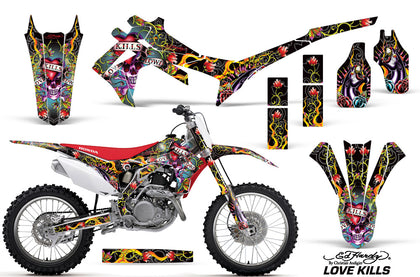 Dirt Bike Graphics Kit Decal Sticker Wrap For Honda CRF250R 2014-2017 EDHLK BLACK