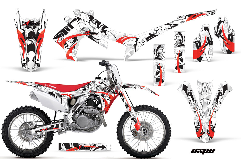 Dirt Bike Graphics Kit Decal Sticker Wrap For Honda CRF250R 2014-2017 EXPO RED-atv motorcycle utv parts accessories gear helmets jackets gloves pantsAll Terrain Depot