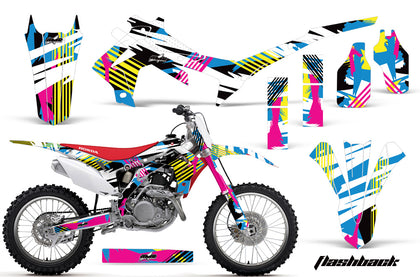 Dirt Bike Graphics Kit Decal Sticker Wrap For Honda CRF250R 2014-2017 FLASHBACK