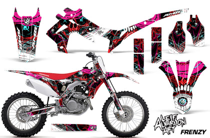 Dirt Bike Graphics Kit Decal Sticker Wrap For Honda CRF250R 2014-2017 FRENZY RED