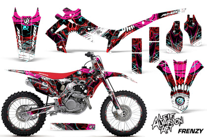 Graphics Kit Decal Sticker Wrap + # Plates For Honda CRF250R 2014-2017 FRENZY RED
