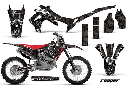 Graphics Kit Decal Sticker Wrap + # Plates For Honda CRF250R 2014-2017 REAPER BLACK