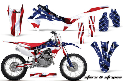 Dirt Bike Graphics Kit Decal Sticker Wrap For Honda CRF250R 2014-2017 USA FLAG