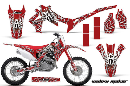 Dirt Bike Graphics Kit Decal Sticker Wrap For Honda CRF250R 2014-2017 WIDOW WHITE RED