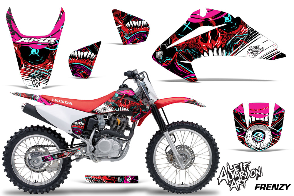 Dirt Bike Graphics Kit Decal Wrap For Honda CRF150 CRF230F 2003-2007 FRENZY RED-atv motorcycle utv parts accessories gear helmets jackets gloves pantsAll Terrain Depot