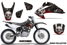 Load image into Gallery viewer, Dirt Bike Graphics Kit Decal Wrap For Honda CRF150 CRF230F 2003-2007 BONES BLACK-atv motorcycle utv parts accessories gear helmets jackets gloves pantsAll Terrain Depot