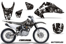 Load image into Gallery viewer, Dirt Bike Graphics Kit Decal Wrap For Honda CRF150 CRF230F 2003-2007 BUTTERFLIES WHITE BLACK-atv motorcycle utv parts accessories gear helmets jackets gloves pantsAll Terrain Depot