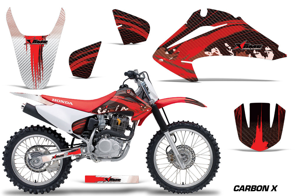 Dirt Bike Graphics Kit Decal Wrap For Honda CRF150 CRF230F 2003-2007 CARBONX RED-atv motorcycle utv parts accessories gear helmets jackets gloves pantsAll Terrain Depot