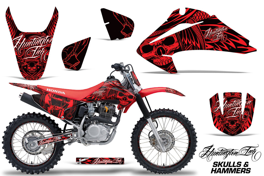Graphics Kit Decal Wrap + # Plates For Honda CRF150 CRF230F 2003-2007 HISH RED-atv motorcycle utv parts accessories gear helmets jackets gloves pantsAll Terrain Depot