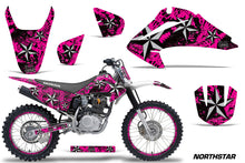 Load image into Gallery viewer, Graphics Kit Decal Wrap + # Plates For Honda CRF150 CRF230F 2003-2007 NORTHSTAR SILVER PINK-atv motorcycle utv parts accessories gear helmets jackets gloves pantsAll Terrain Depot