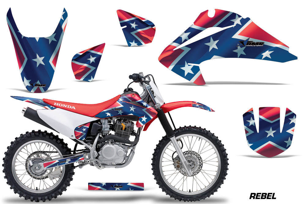 Dirt Bike Graphics Kit Decal Wrap For Honda CRF150 CRF230F 2003-2007 REBEL-atv motorcycle utv parts accessories gear helmets jackets gloves pantsAll Terrain Depot