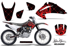 Load image into Gallery viewer, Dirt Bike Graphics Kit Decal Wrap For Honda CRF150 CRF230F 2003-2007 RELOADED RED BLACK-atv motorcycle utv parts accessories gear helmets jackets gloves pantsAll Terrain Depot