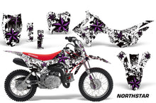 Load image into Gallery viewer, Dirt Bike Decal Graphic Kit Wrap For Honda CRF110 CRF 110 2013-2018 NORTHSTAR PURPLE WHITE-atv motorcycle utv parts accessories gear helmets jackets gloves pantsAll Terrain Depot