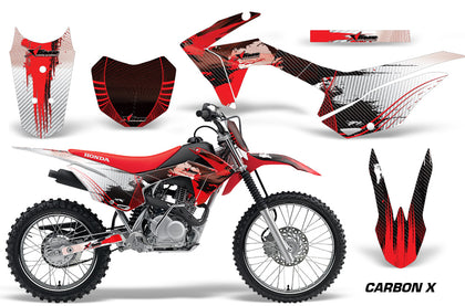 Honda CRF125F Graphics Kit Dirt Bike Wrap MX Stickers Decals 2014-2018 CARBONX RED