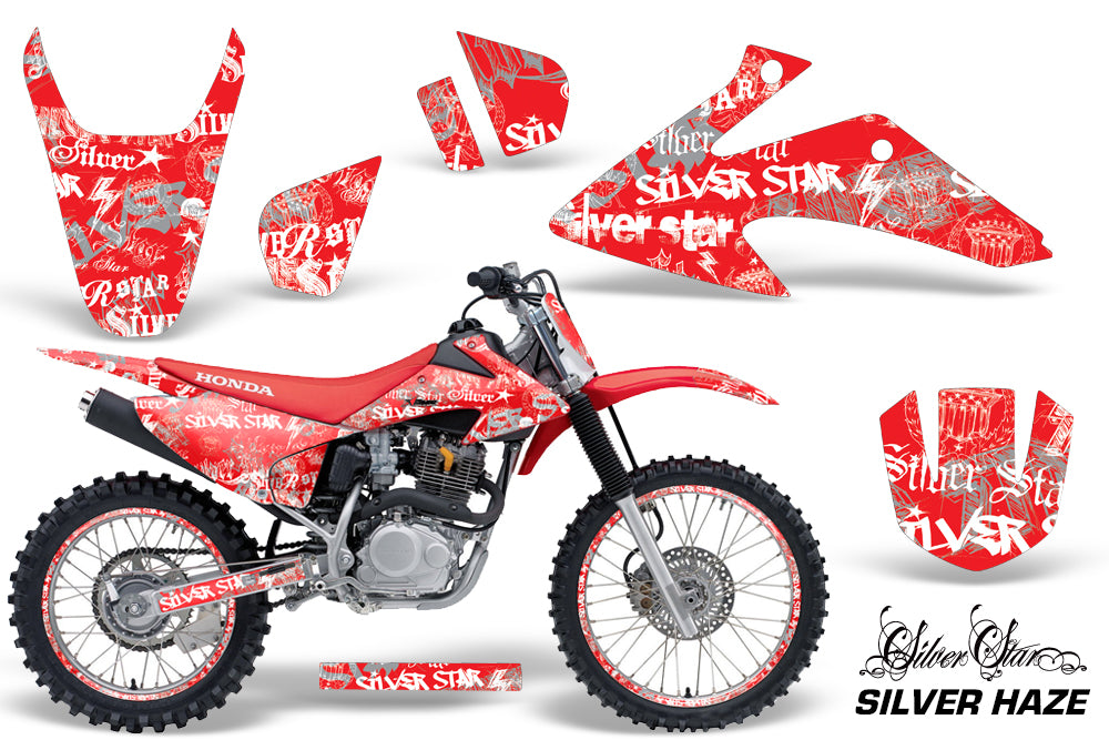 Graphics Kit Decal Wrap + # Plates For Honda CRF150 CRF230F 2008-2014 SSSH WHITE RED-atv motorcycle utv parts accessories gear helmets jackets gloves pantsAll Terrain Depot