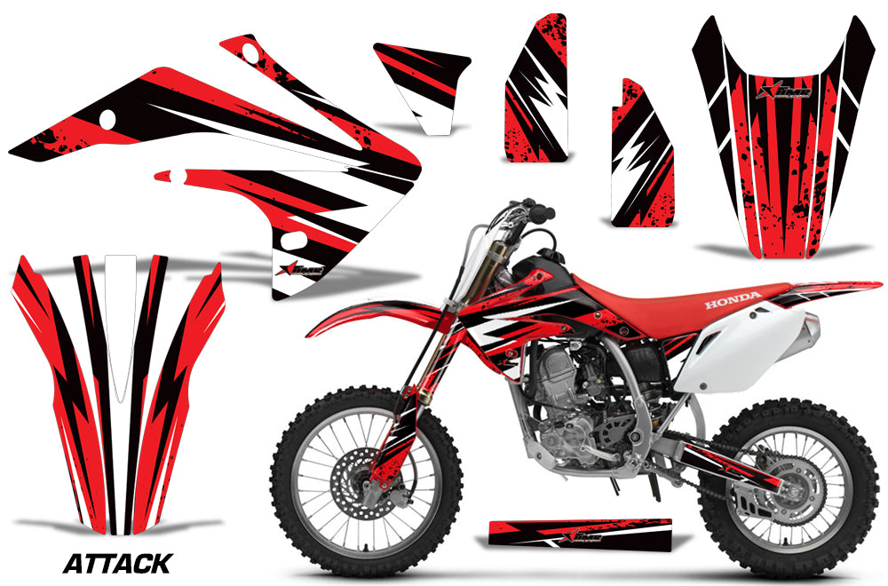Dirt Bike Graphics Kit Decal Sticker Wrap For Honda CRF150R 2017-2018 ATTACK RED-atv motorcycle utv parts accessories gear helmets jackets gloves pantsAll Terrain Depot