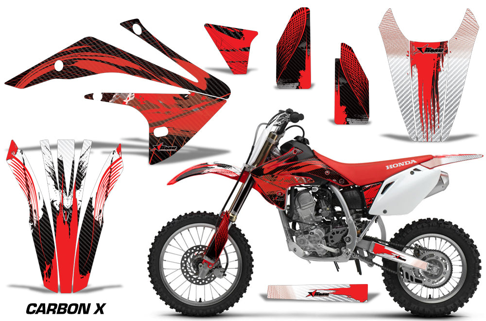 Dirt Bike Graphics Kit Decal Sticker Wrap For Honda CRF150R 2017-2018 CARBONX RED-atv motorcycle utv parts accessories gear helmets jackets gloves pantsAll Terrain Depot