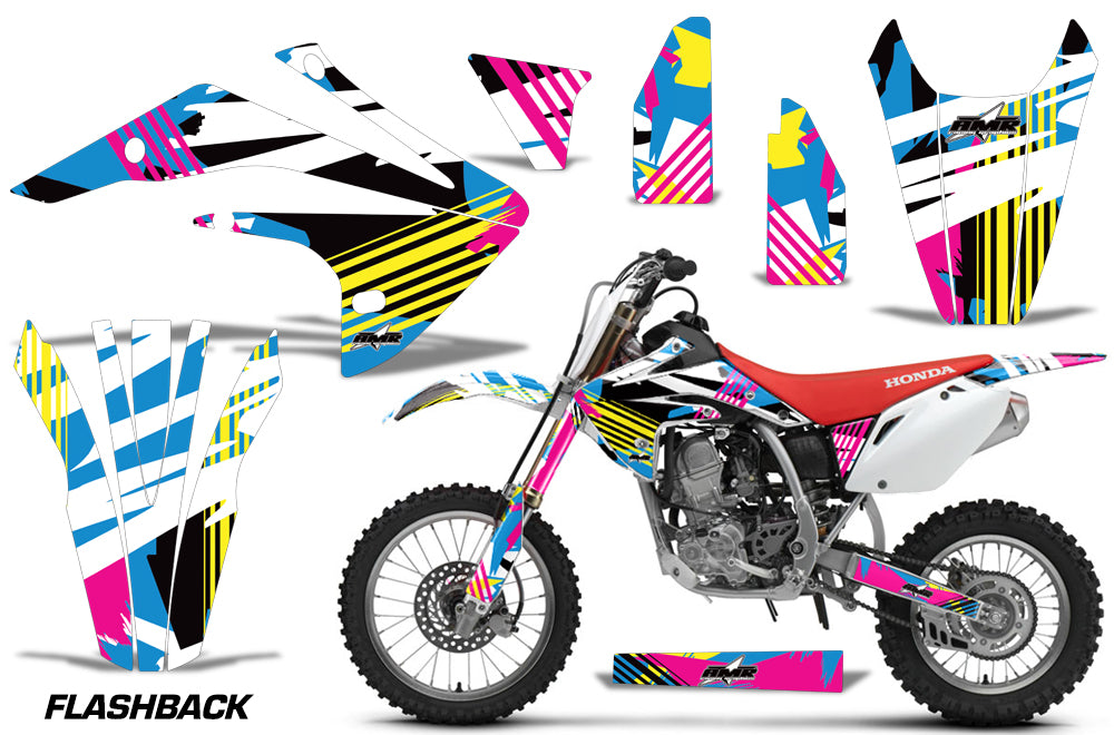 Dirt Bike Graphics Kit Decal Sticker Wrap For Honda CRF150R 2017-2018 FLASHBACK-atv motorcycle utv parts accessories gear helmets jackets gloves pantsAll Terrain Depot
