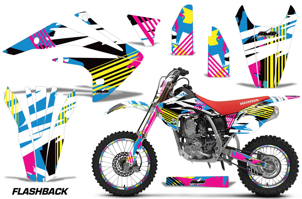 Graphics Kit Decal Sticker Wrap + # Plates For Honda CRF150R 2017-2018 FLASHBACK-atv motorcycle utv parts accessories gear helmets jackets gloves pantsAll Terrain Depot