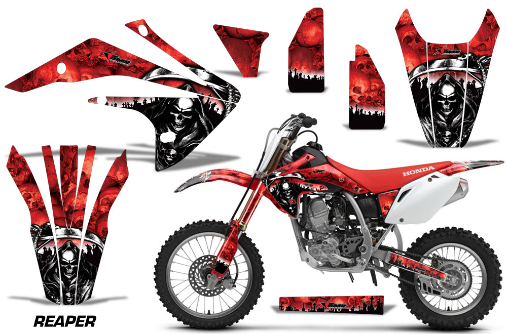 Dirt Bike Graphics Kit Decal Sticker Wrap For Honda CRF150R 2017-2018 REAPER RED-atv motorcycle utv parts accessories gear helmets jackets gloves pantsAll Terrain Depot