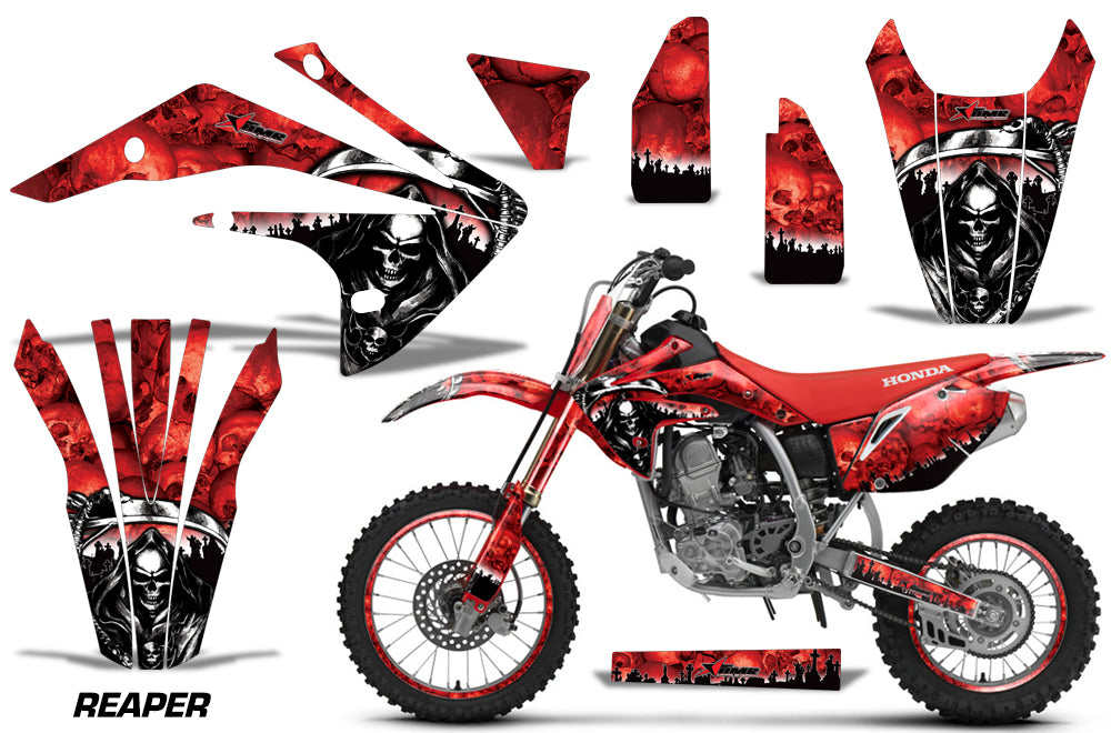 Graphics Kit Decal Sticker Wrap + # Plates For Honda CRF150R 2017-2018 REAPER RED-atv motorcycle utv parts accessories gear helmets jackets gloves pantsAll Terrain Depot