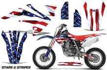 Load image into Gallery viewer, Dirt Bike Graphics Kit Decal Sticker Wrap For Honda CRF150R 2017-2018 USA FLAG-atv motorcycle utv parts accessories gear helmets jackets gloves pantsAll Terrain Depot